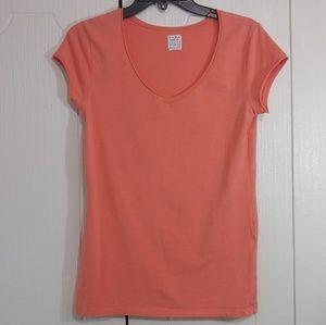 Zara Trafalic Orange Short Sleeve Shirt Size L